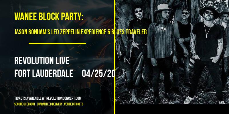 Wanee Block Party: Jason Bonham's Led Zeppelin Experience & Blues Traveler at Revolution Live
