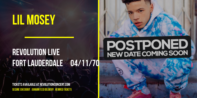 Lil Mosey [POSTPONED] at Revolution Live
