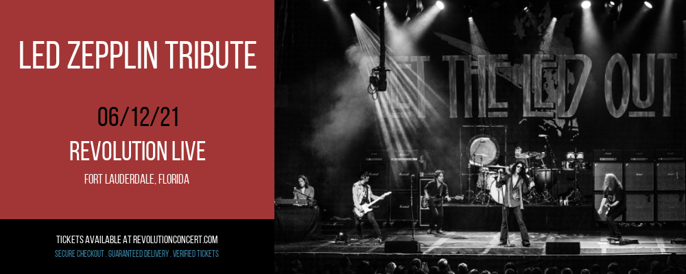 Led Zepplin Tribute at Revolution Live