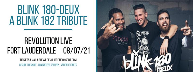 Blink 180-Deux - A Blink 182 Tribute at Revolution Live