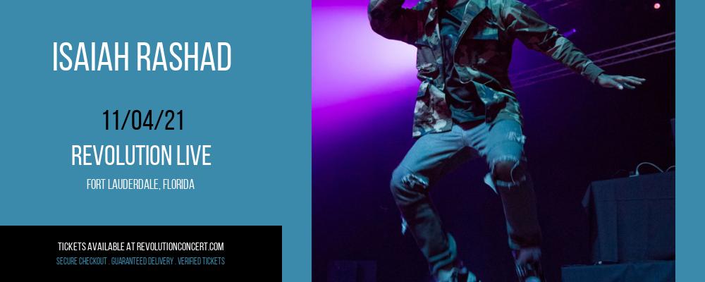 Isaiah Rashad at Revolution Live