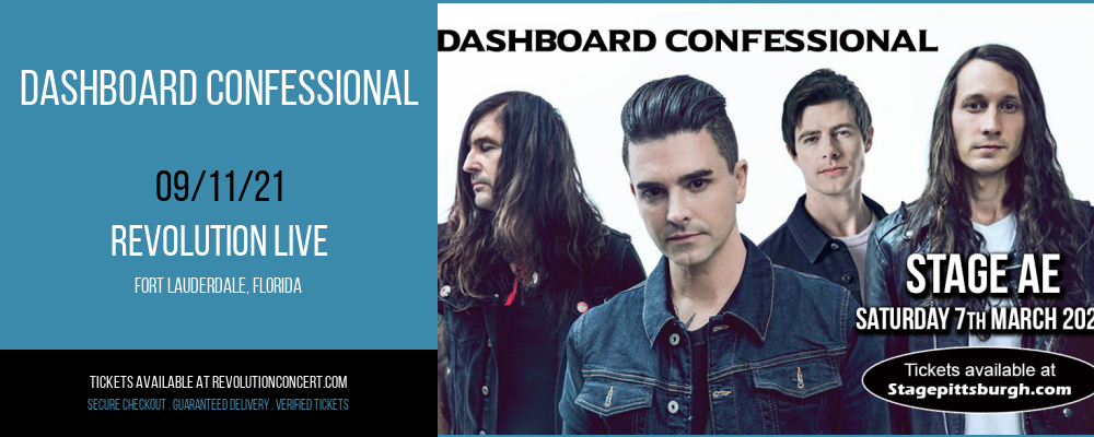 Dashboard Confessional [CANCELLED] at Revolution Live